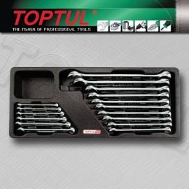 TOPTUL GAAT1603 16 Piece 15DSuperTorque Combi Wrench Set
