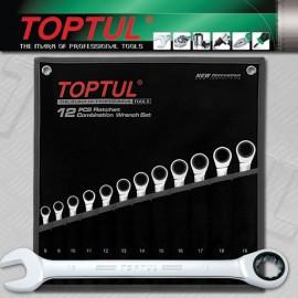 TOPTUL GPAQ1202 12 Piece Metric Ratchet Wrench Set