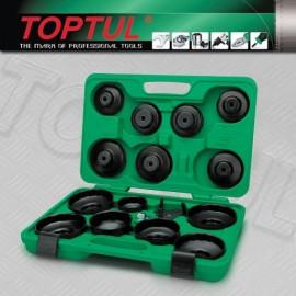 TOPTUL JGAI1601 16 Pieces Automotive Oil Filter Wrench Set